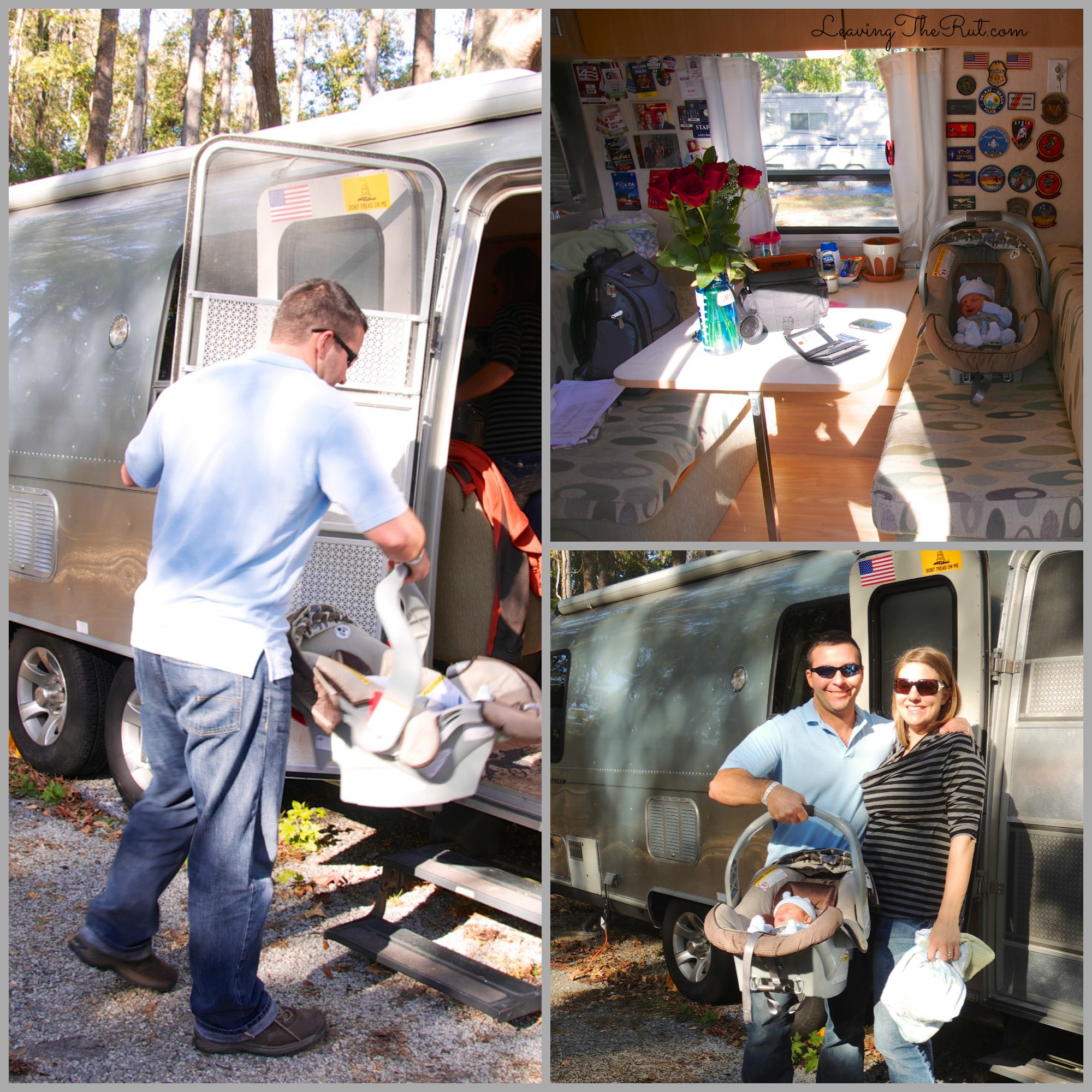 His First Home was an Airstream coming home