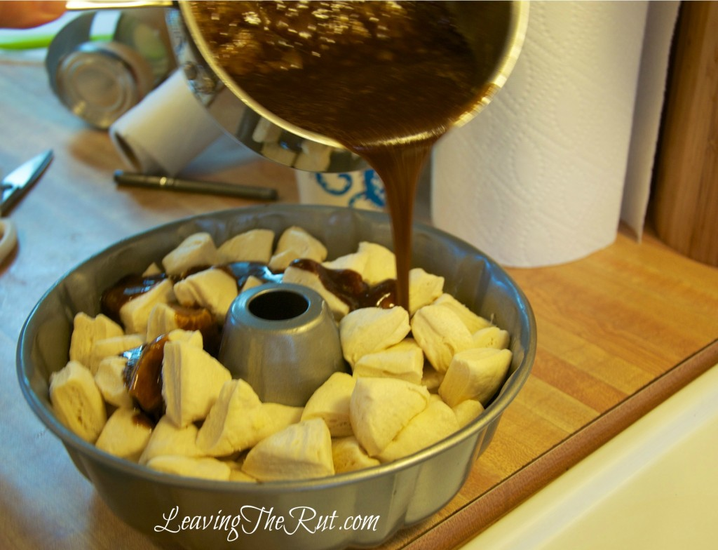 Easy Monkey Bread butter sugar dough