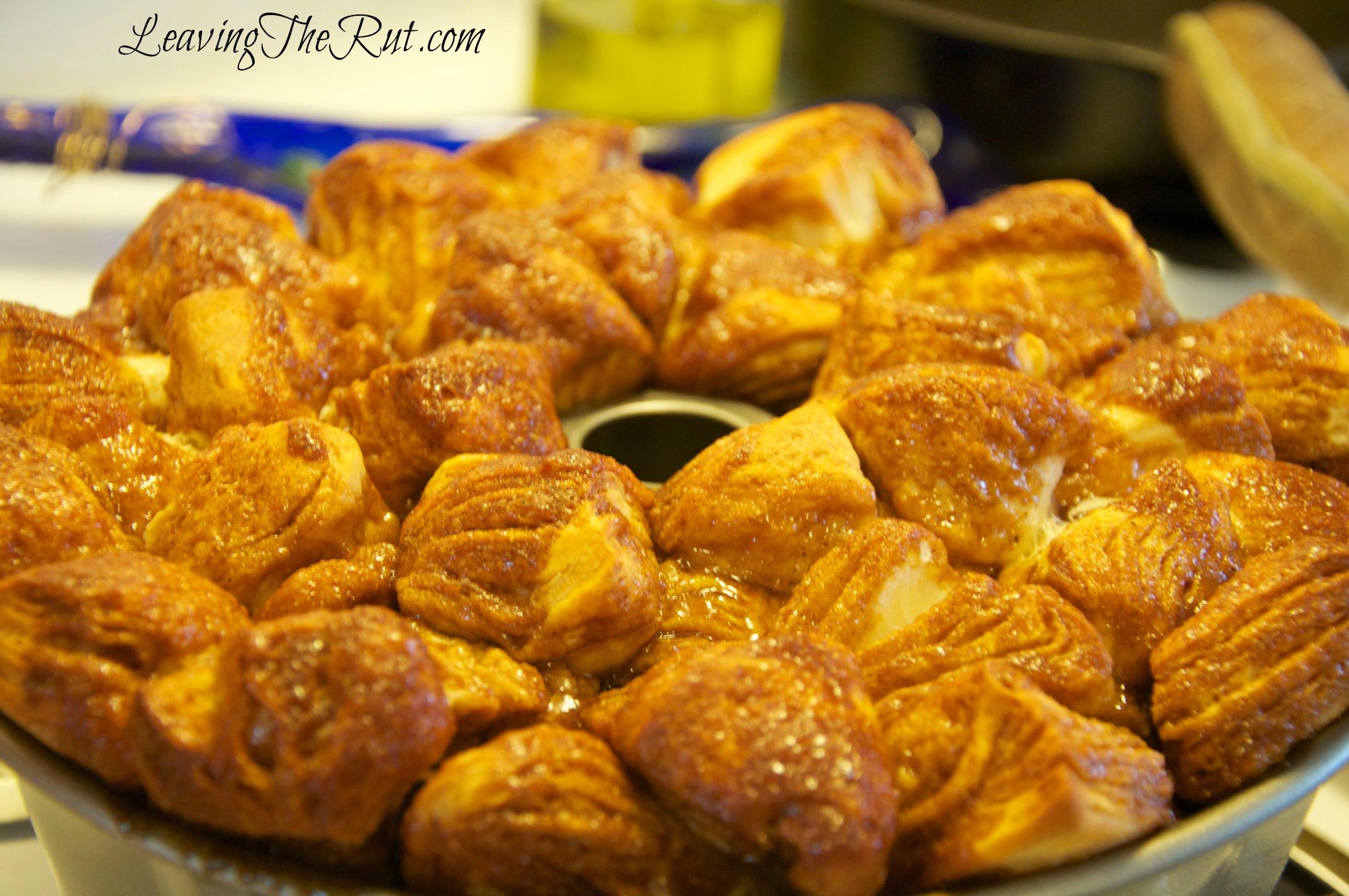 Easy Monkey Bread cooling