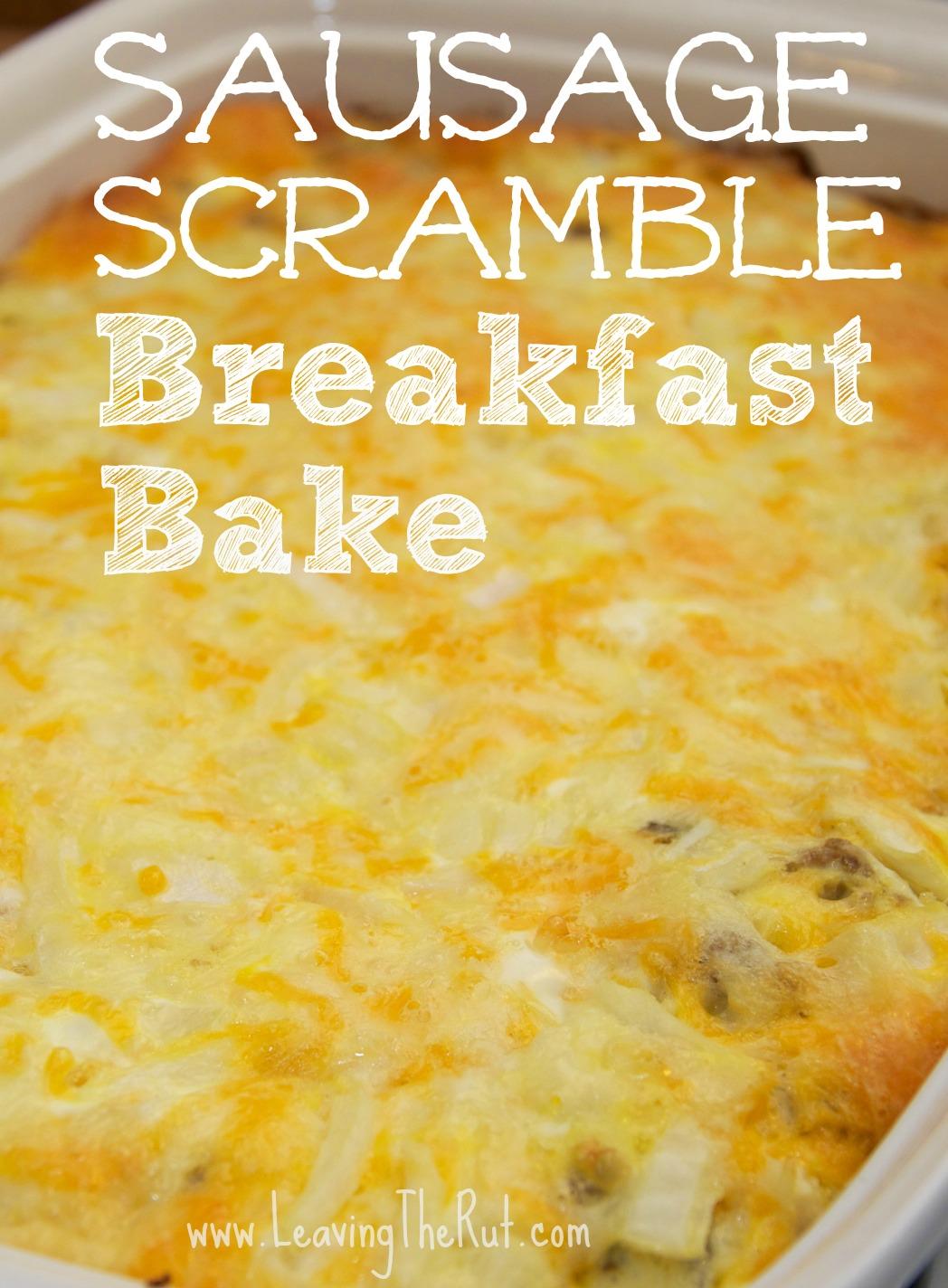 Sausage Scramble Breakfast Bake