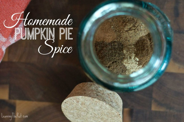Homemade Pumpkin Pie Spice FB