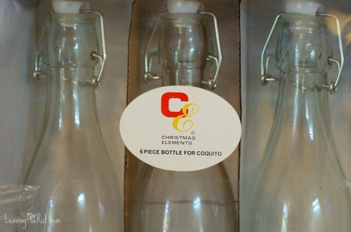Caribbean Eggnog coquito bottles
