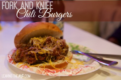 Knife and Fork Chili Burgers