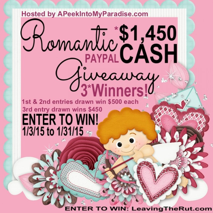 Romantic Paypal Cash Giveaway | APeekIntoMyParadise.com #giveaway #blogger #paypal #cash #valentinesday
