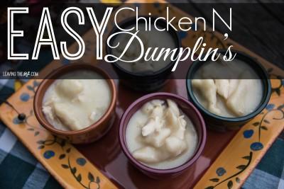 Easy Chicken N Dumplin's